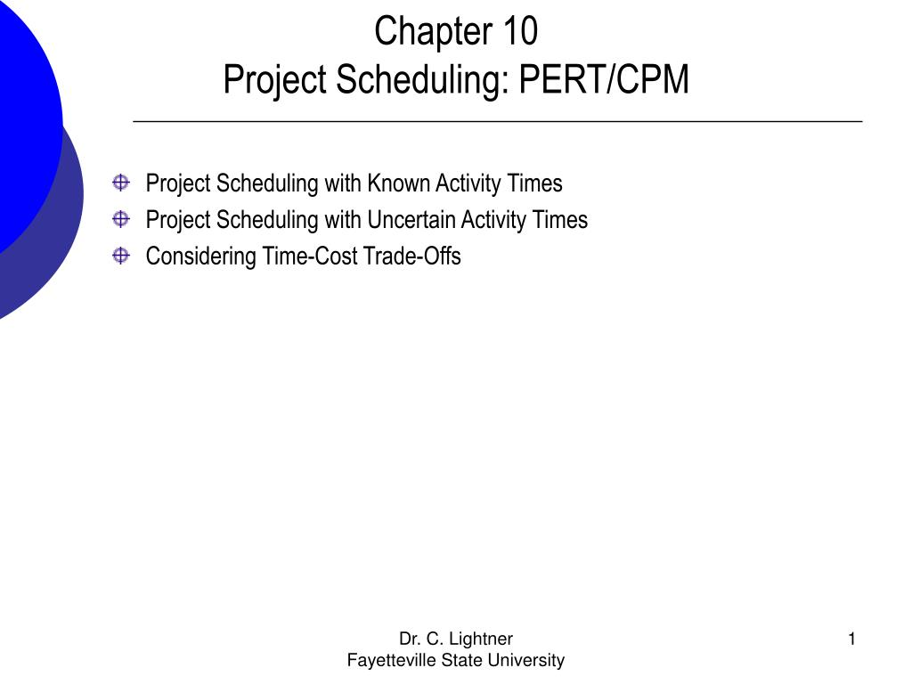 pert scheduling