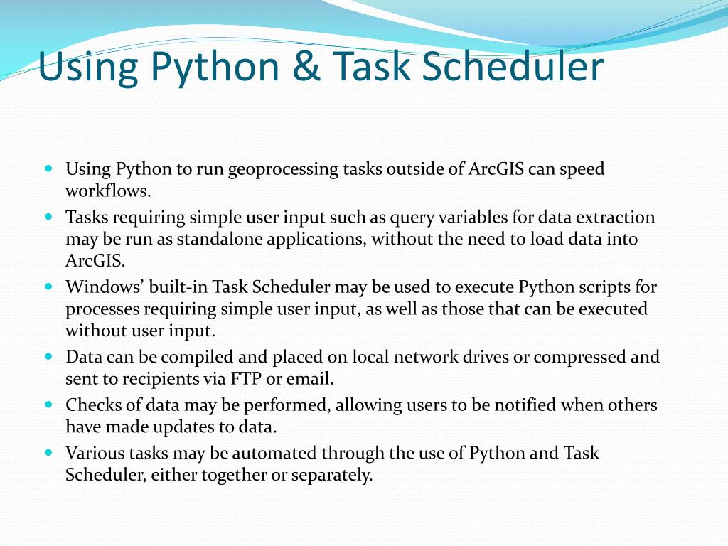 PPT - Automating Processes Using ModelBuilder , Python & Windows