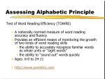 assessing alphabetic principle1