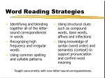 word reading strategies