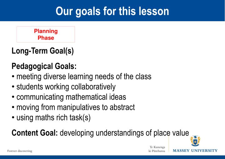 Our goals for this lesson