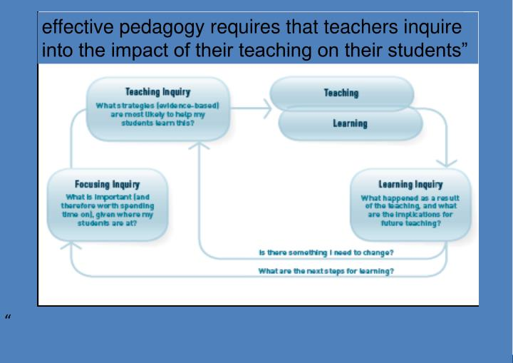 effective pedagogy requires that teachers inquire into the impact of their teaching on their students""