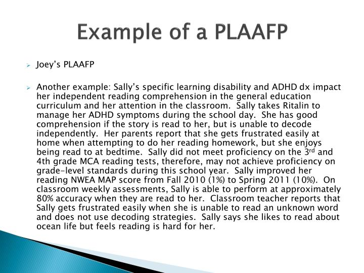 Example of a PLAAFP