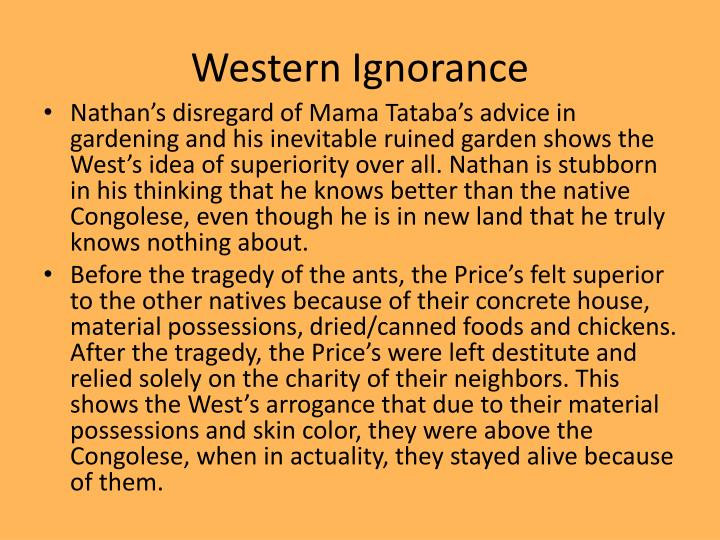 Western Ignorance