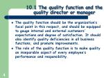 10 1 the quality function and the quality director or manager1