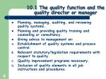 10 1 the quality function and the quality director or manager3