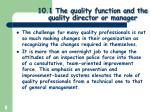 10 1 the quality function and the quality director or manager5
