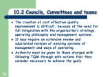 10 2 councils committees and teams