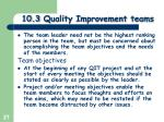 10 3 quality improvement teams1