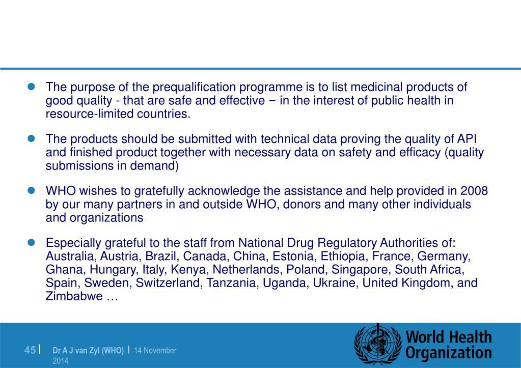 PPT - World Health Organization Activities Focus on