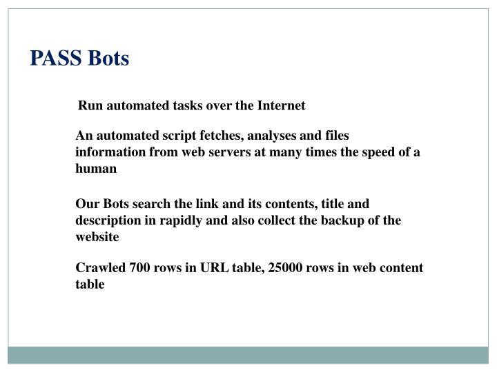 PASS Bots