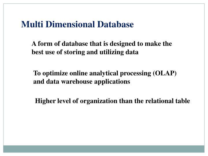 Multi Dimensional Database
