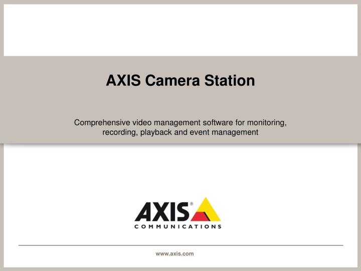 axis camera station n.