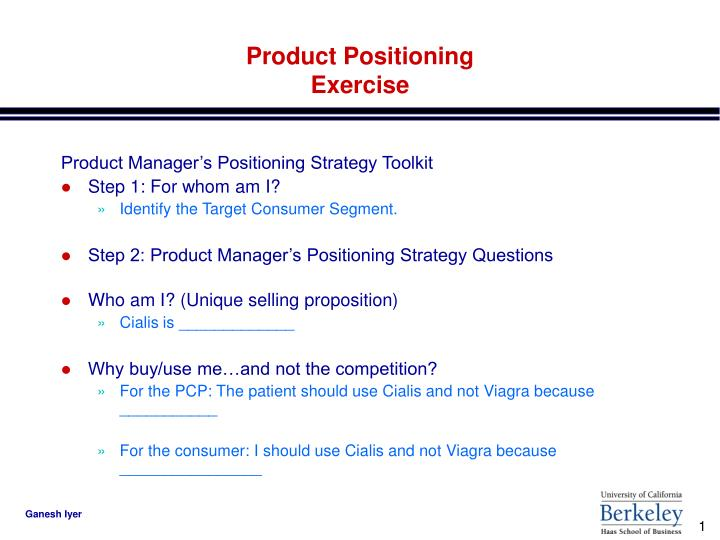 Product positioning exercise