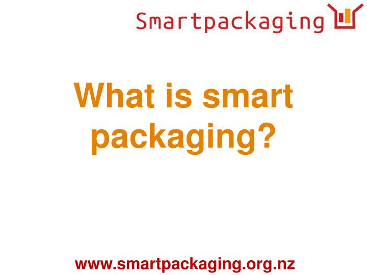 What is smart packaging?