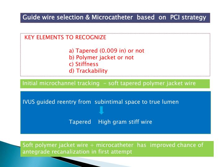 Guide wire selection &
