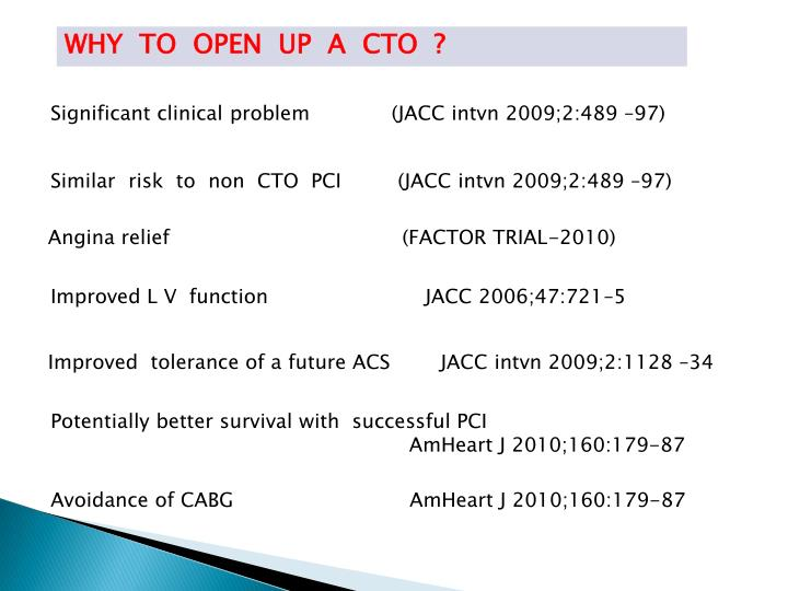 WHY  TO  OPEN  UP  A  CTO  ?