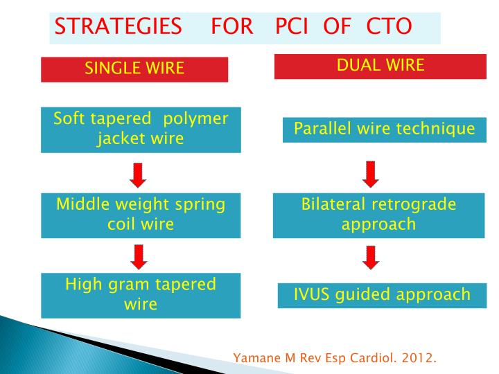 STRATEGIES    FOR   PCI  OF  CTO