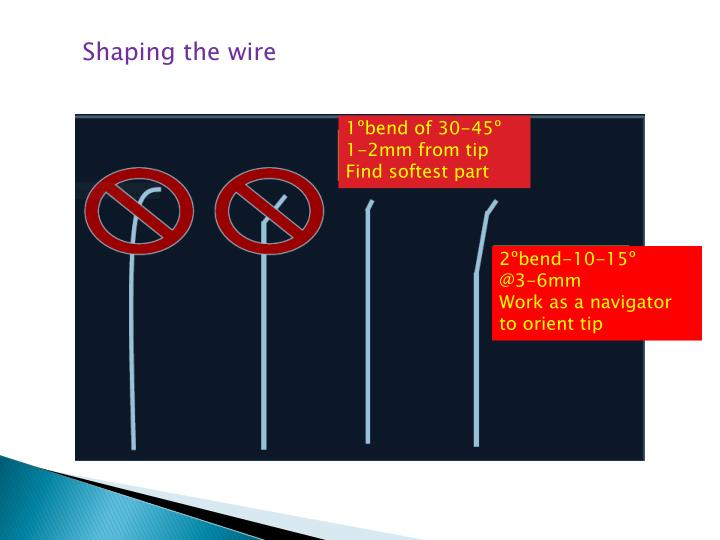 Shaping the wire