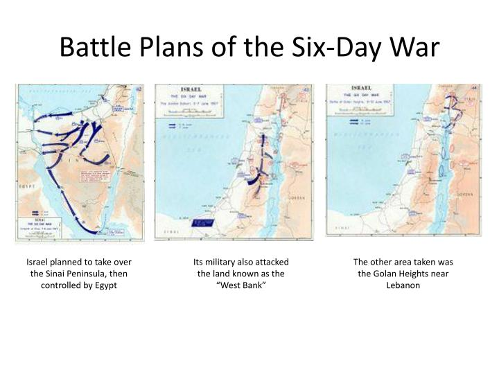 Battle Plans of the Six-Day War