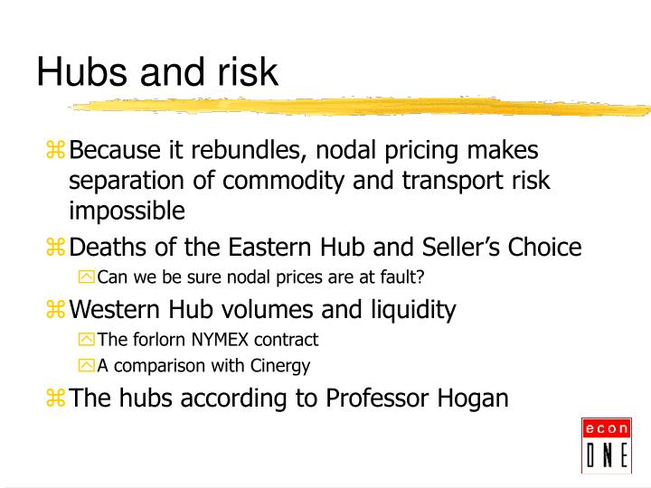Hubs and risk