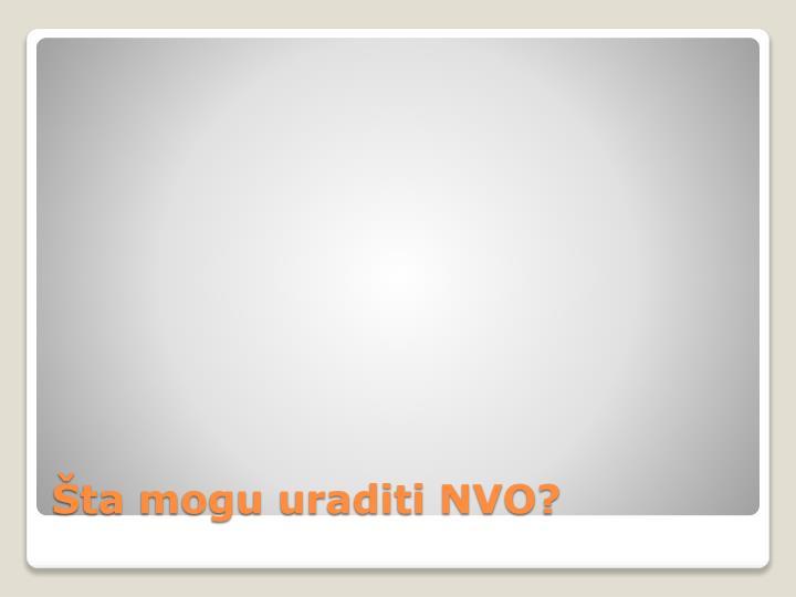 Šta mogu uraditi NVO?