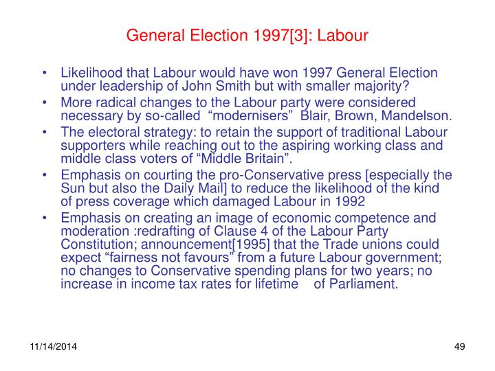 General Election 1997[3]: Labour