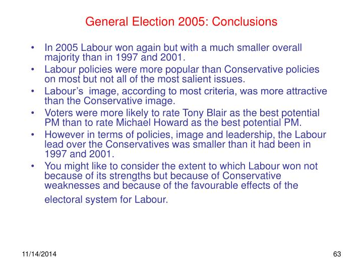 General Election 2005: Conclusions