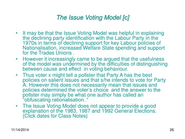 The Issue Voting Model [c]