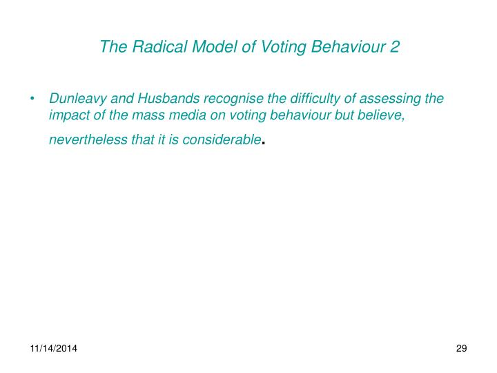The Radical Model of Voting Behaviour 2