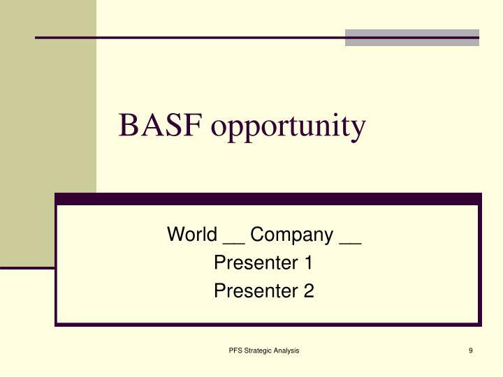 BASF opportunity