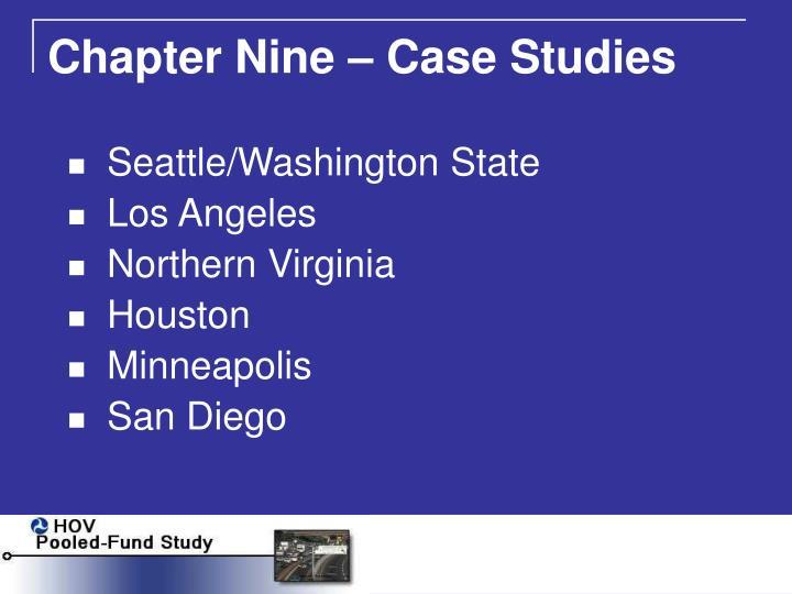 Chapter Nine – Case Studies