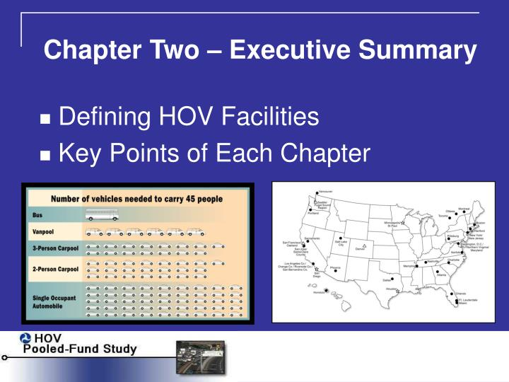 Chapter Two – Executive Summary
