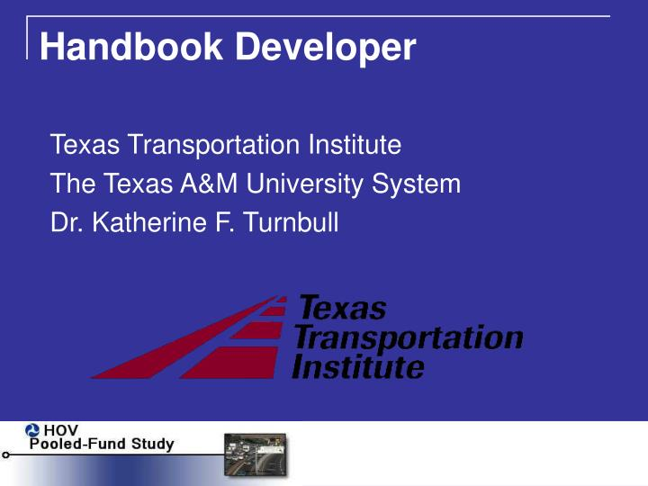 Handbook Developer