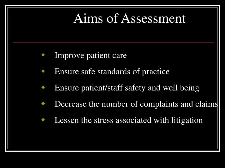 Aims of Assessment