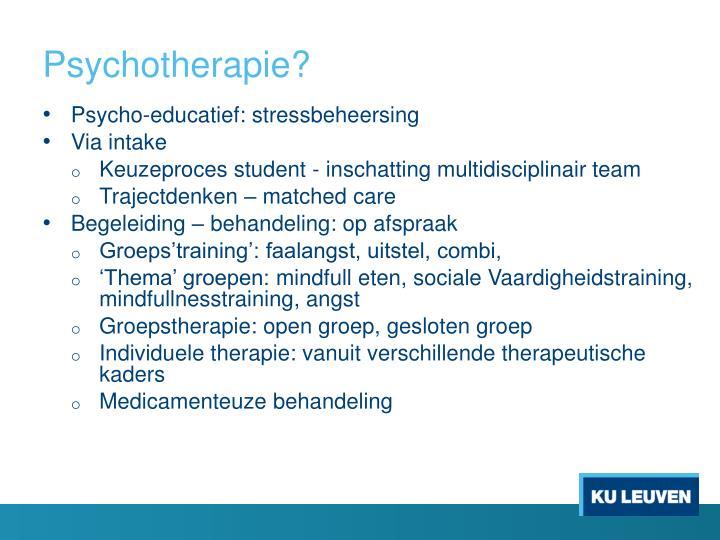 Psychotherapie?