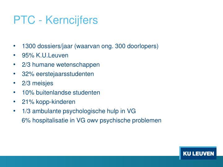 PTC - Kerncijfers