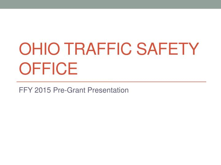 ohio traffic safety office n.