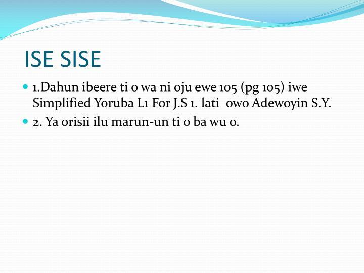 ISE SISE