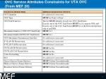 ovc service attributes constraints for uta ovc from mef 28