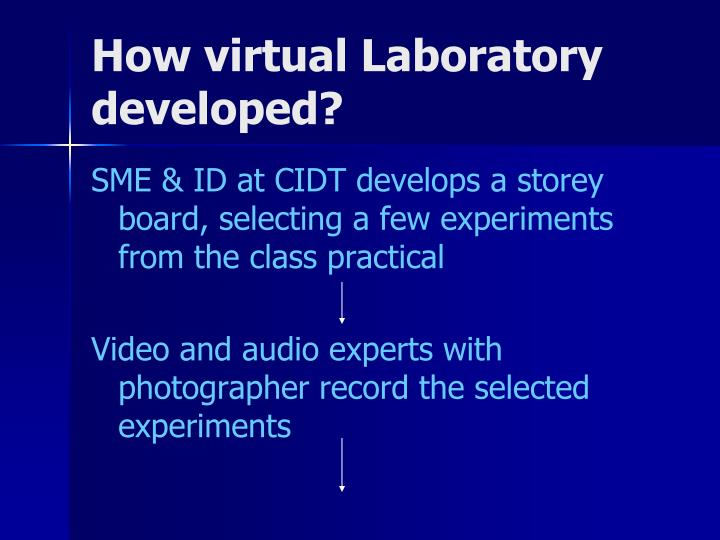 How virtual Laboratory developed?