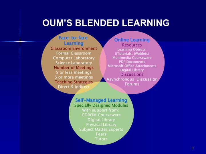 OUM'S BLENDED LEARNING