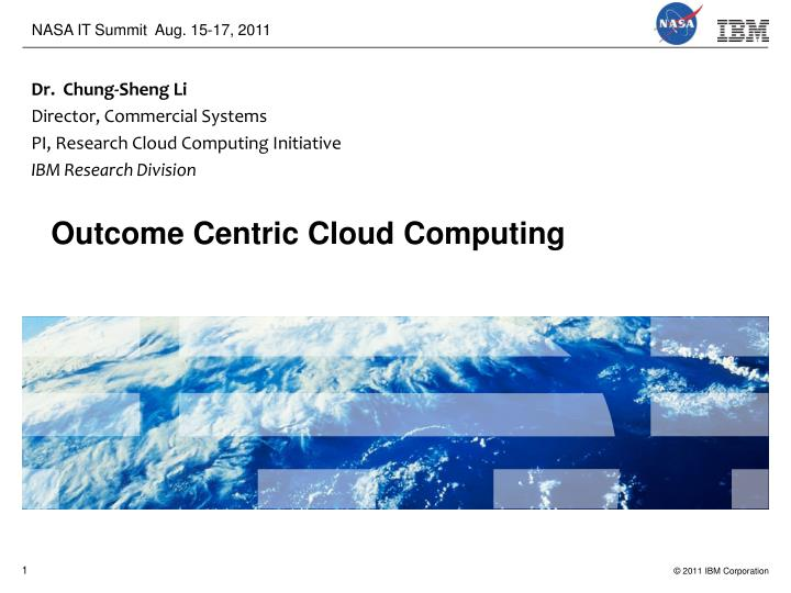 cloud computing for a smarter planet n.