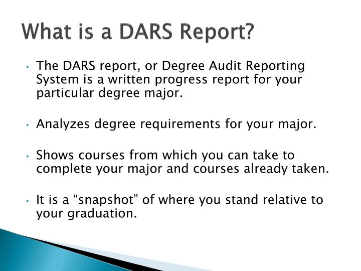 What is a dars report