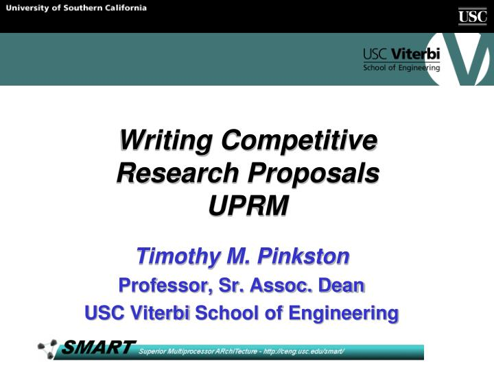 writing competitive research proposals uprm n.