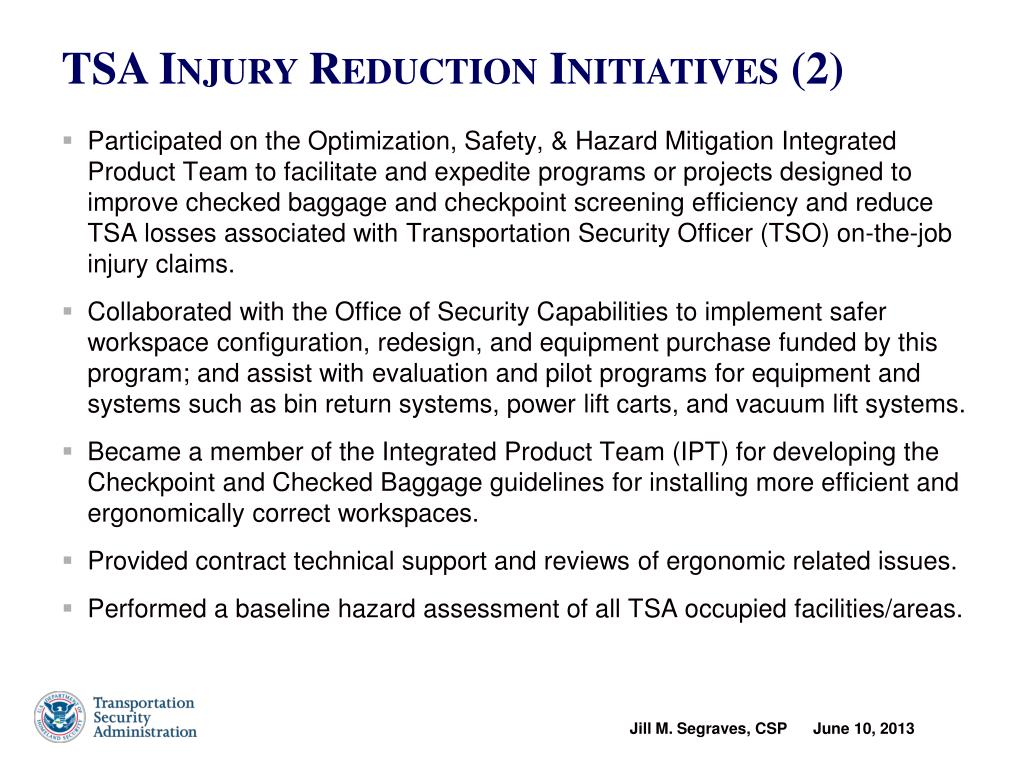 PPT - Transportation Security Administration Occupational
