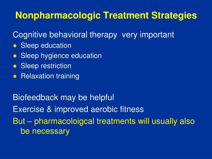 Nonpharmacologic Treatment Strategies