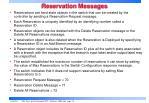 reservation messages