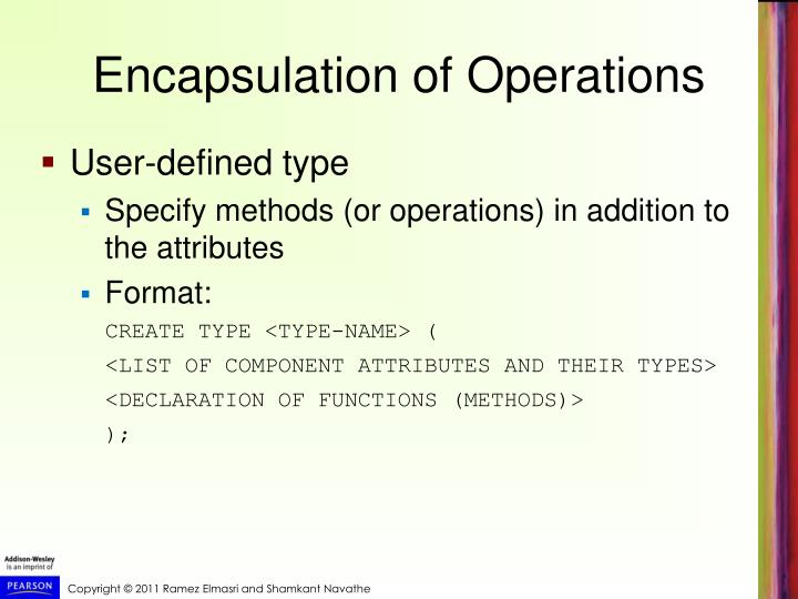 Encapsulation of Operations
