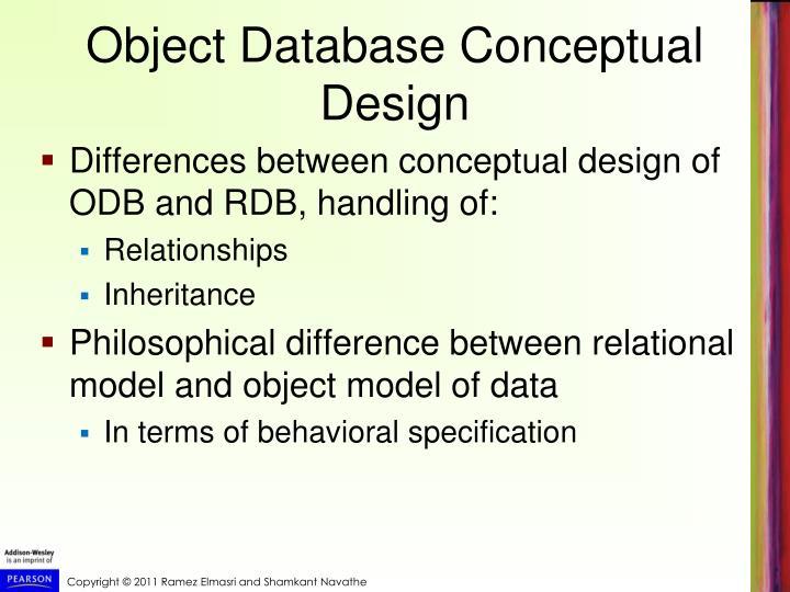 Object Database Conceptual Design